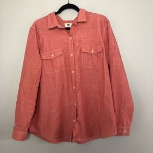 Old Navy Long Sleeve Salmon Button Down XL